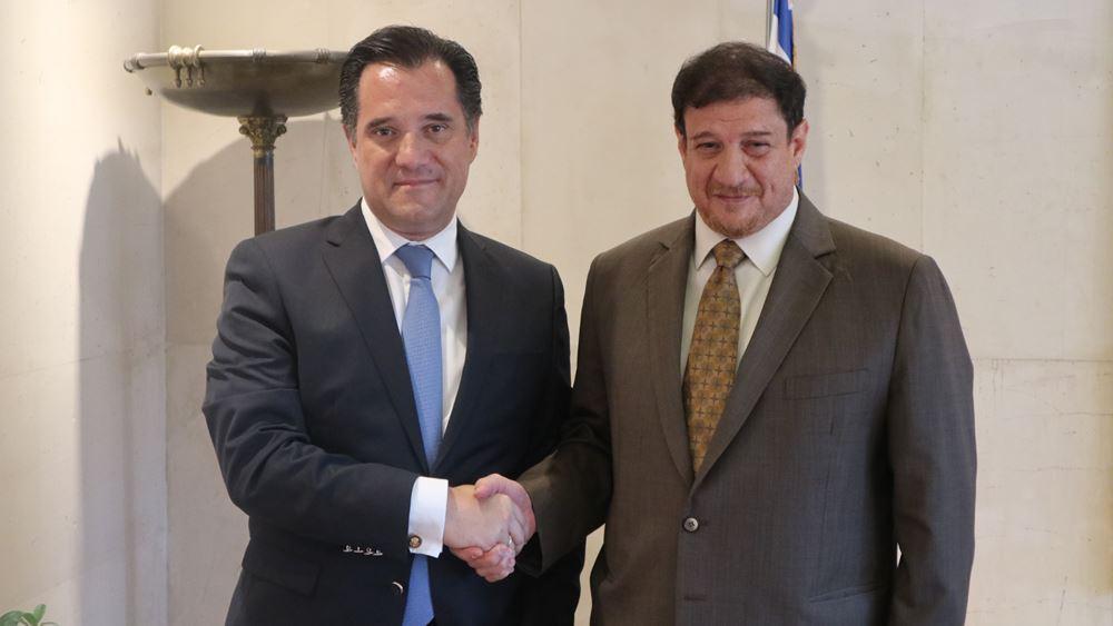 Ενδιαφέρον Κουβέιτ για επενδύσεις στην Ελλάδα - Συνάντηση του πρέσβη με Άδ. Γεωργιάδη