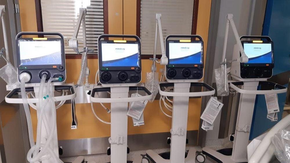 Ολοκληρώθηκε στο νοσοκομείο Ευαγγελισμός η εγκατάσταση 10 αναπνευστήρων