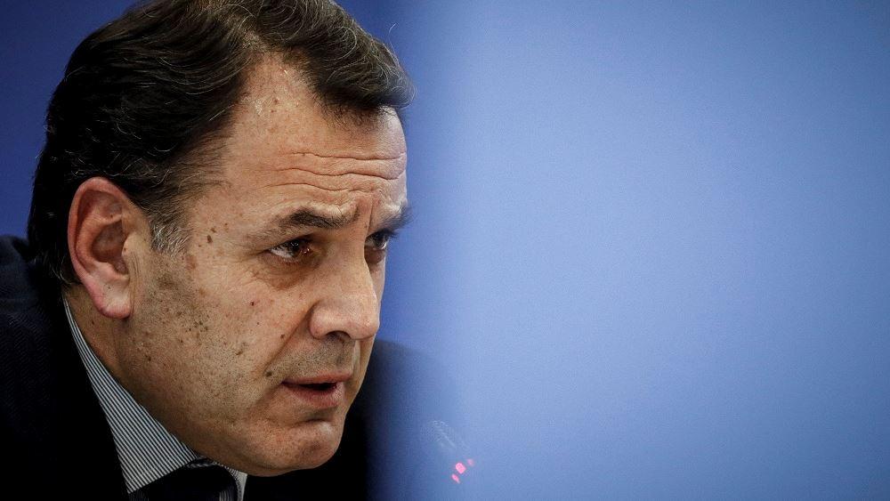Ο ΥΕΘΑ Ν. Παναγιωτόπουλος στο Εθνικό Κέντρο Επιχειρήσεων για τις πυρκαγιές στην Εύβοια