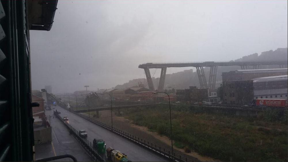 Γένοβα: Τουλάχιστον 35 νεκροί από την κατάρρευση οδογέφυρας