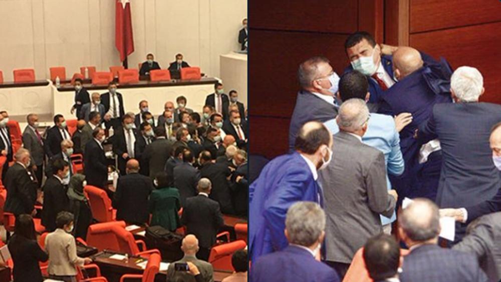 """""""Ξύλο"""" στην τουρκική βουλή για τις νέες """"πολιτοφυλακές"""" του Ερντογάν"""