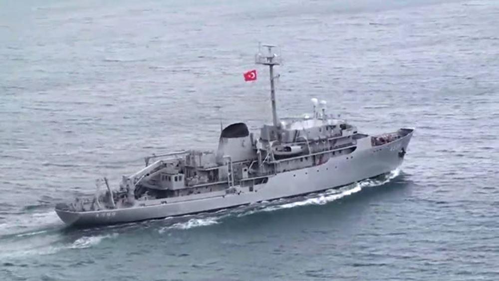 """""""Τσεσμέ"""": Βγήκε ξανά στο Αιγαίο – Πλέει προς την περιοχή της τουρκικής Navtex"""