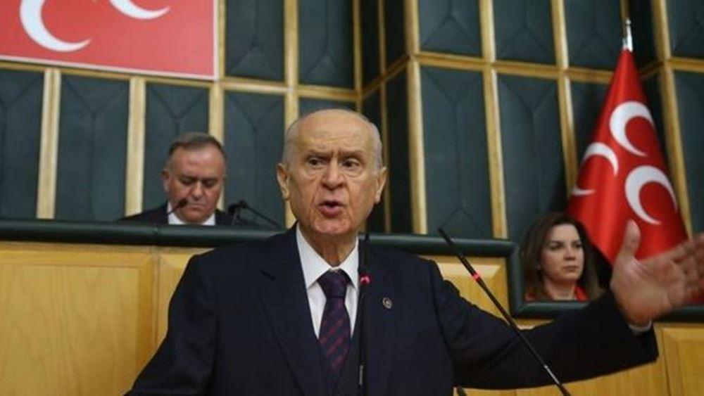 Μπαχτσελί: Εάν χρειαστεί, το τουρκικό έθνος πρέπει να βαδίσει και να καταλάβει τη Δαμασκό