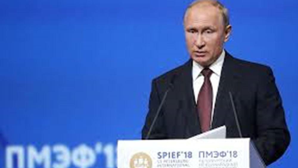 """Β. Πούτιν: Η Μόσχα μπορεί να έχει έναν """"ρόλο-κλειδί"""" στην Μέση Ανατολή"""