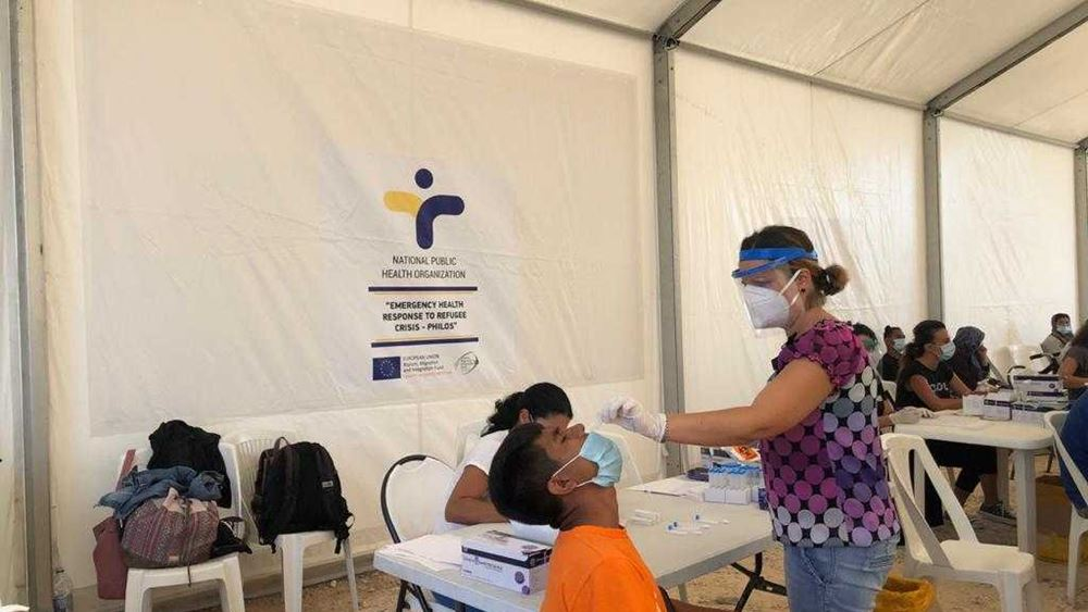 Πάνω από 600 τεστ ταχείας εξέτασης για κορονοϊό διενεργήθηκαν στη δομή του Καρά Τεπέ
