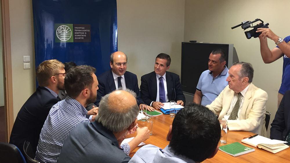 Συνάντηση υπουργού ΠΕΝ κ. Κωστή Χατζηδάκημε περιβαλλοντικές οργανώσεις