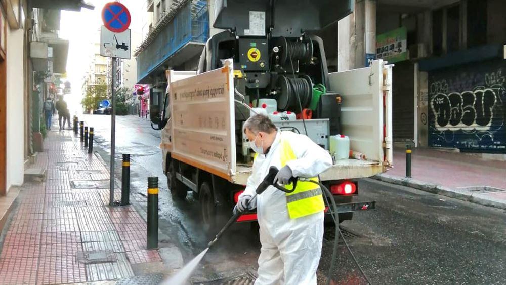 Δήμος Αθηναίων: Μεγάλη δράση καθαρισμού- απολύμανσης περιμετρικά της Ομόνοιας