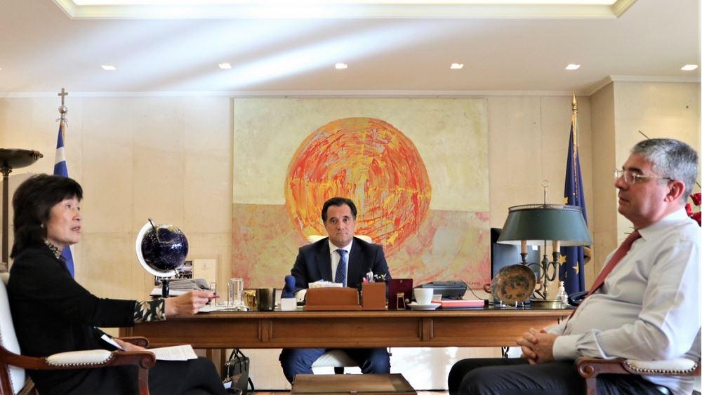 Συνάντηση Γεωργιάδη με την πρέσβη της Κίνας
