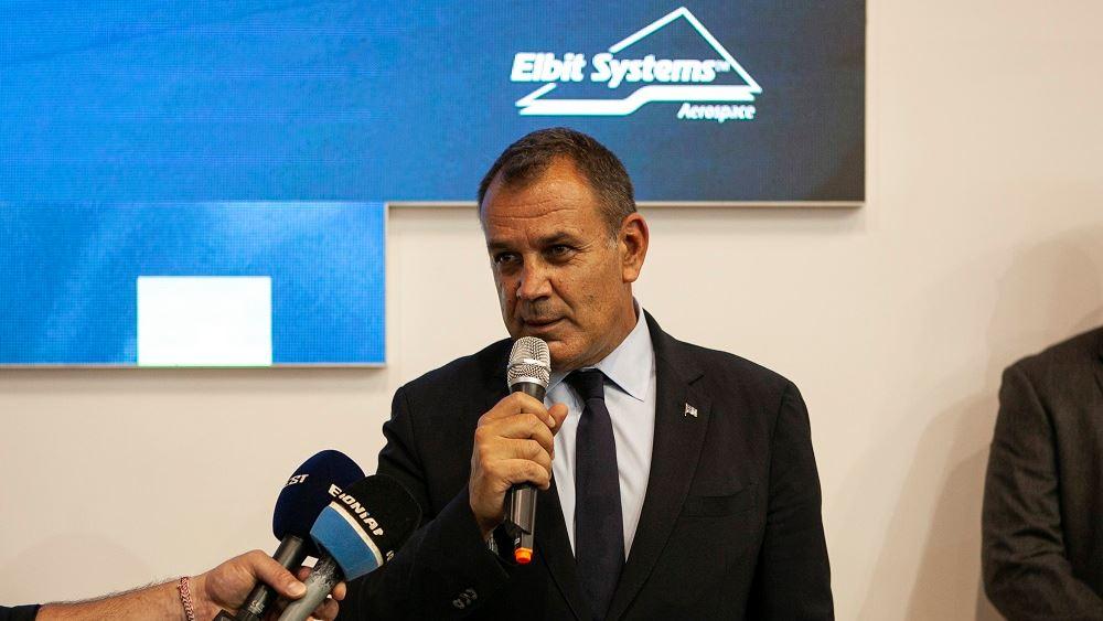 Ο υπουργός Εθνικής Άμυνας, Νίκος Παναγιωτόπουλος στο περίπτερο της Elbit Systems στη DEFEA 2021