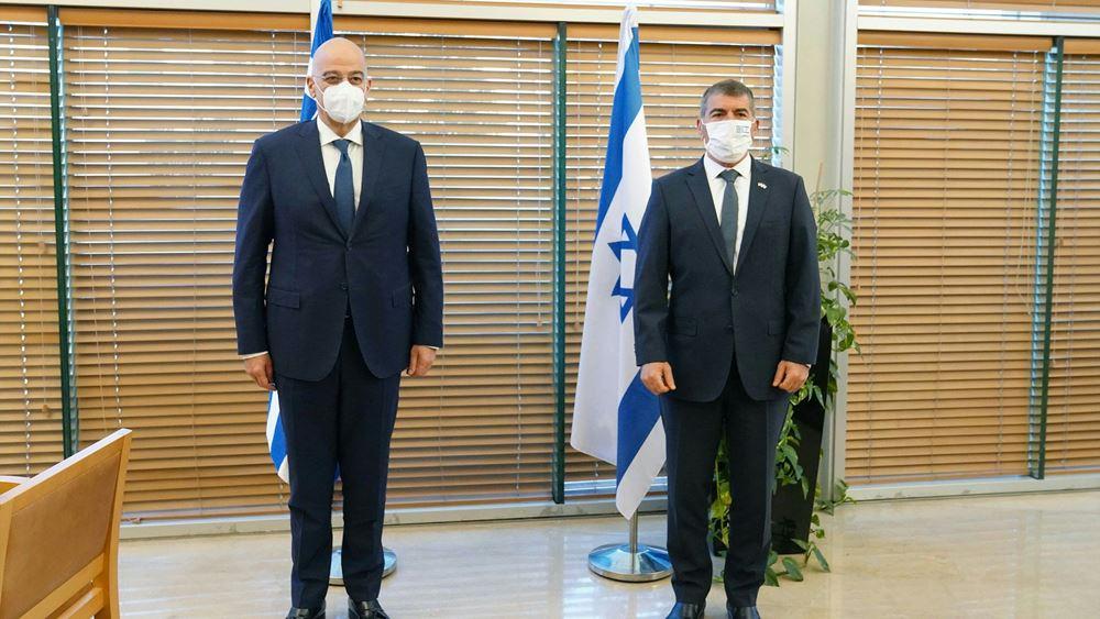 Συνάντηση Ν. Δένδια με Ισραηλινό ΥΠΕΞ για τις εξελίξεις στη Μ. Ανατολή