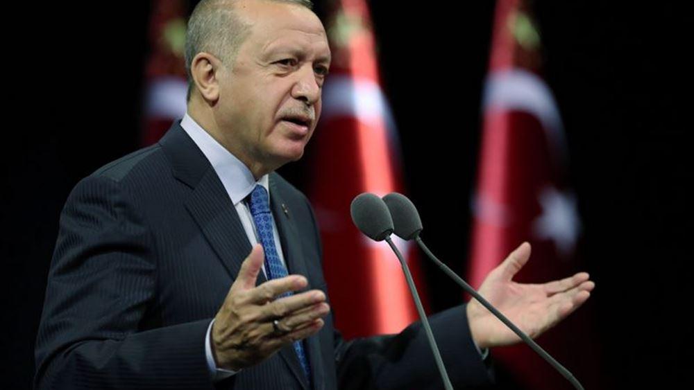 """Ερντογάν: Τρίτες χώρες χρησιμοποιούν την Ελλάδα ως """"δόλωμα"""" ενάντια στην """"παγκόσμια δύναμη"""" Τουρκία"""