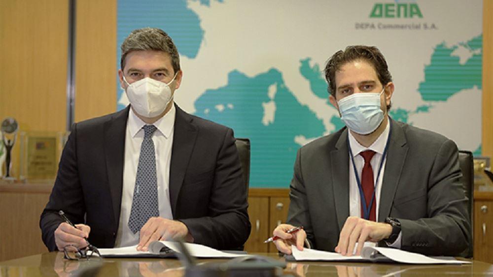 Συνεργασία ΔΕΠΑ Εμπορίας, ΔΕΠΑ Διεθνών Έργων & Σωληνουργείας Κορίνθου για τη χρήση υδρογόνου
