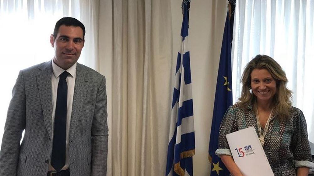 Συνάντηση Β. Λαζαράκου - Χρ. Νούνη για τις δράσεις του ΤΕΑ-ΥΠΟΙΚ