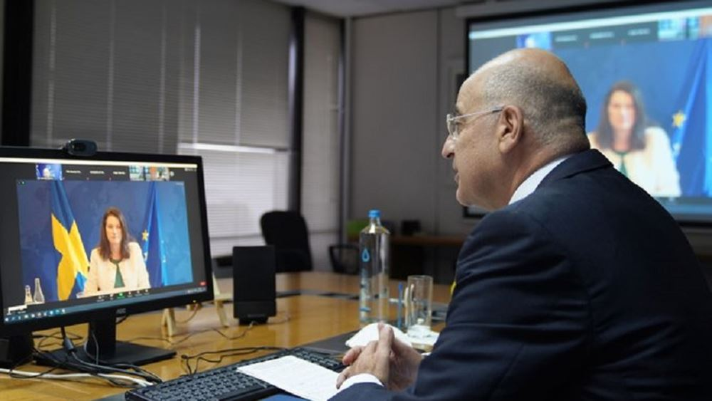Δενδιας τηλεδιασκεψη ΟΑΣΕ 03.11.2020