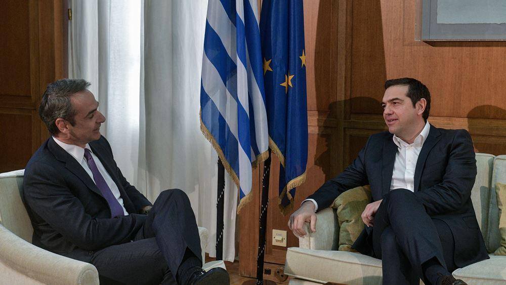 """Δημοσκόπηση MARC: Εμφατικό προβάδισμα Μητσοτάκη έναντι Τσίπρα ως """"καλύτερος πρωθυπουργός"""""""