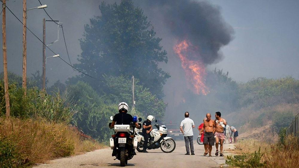 Σύσκεψη υπό τον Στ. Πέτσα για αποτίμηση των καταστροφών από την πυρκαγιά στην Αιγιάλεια