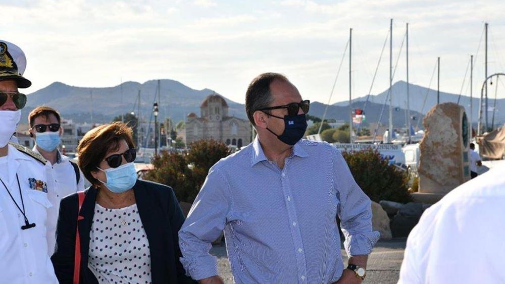 Στην Αίγινα ο Υπουργός Ναυτιλίας και Νησιωτικής Πολιτικής Γιάννης Πλακιωτάκης