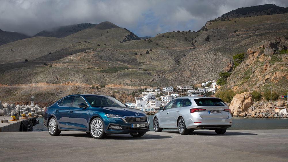 Η νέα SKODA OCTAVIA Grand Coupe φωτογραφημένη στην Κρήτη