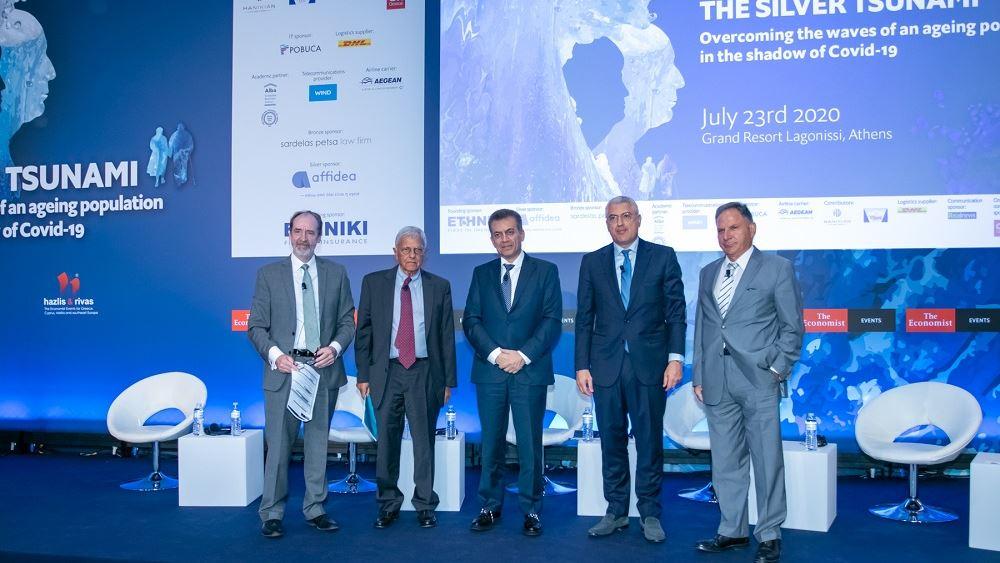 "Founding Sponsor η Εθνική Ασφαλιστική στο συνέδριο του Economist ""Silver Tsunami"""