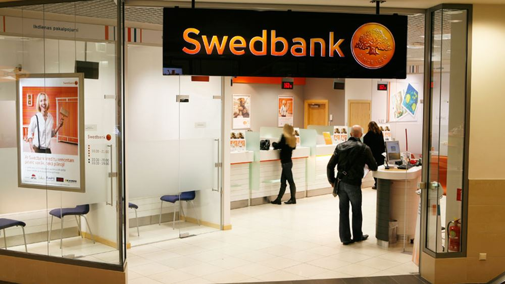 Swedbank: Αυξήθηκαν 16% τα καθαρά κέρδη τριμήνου