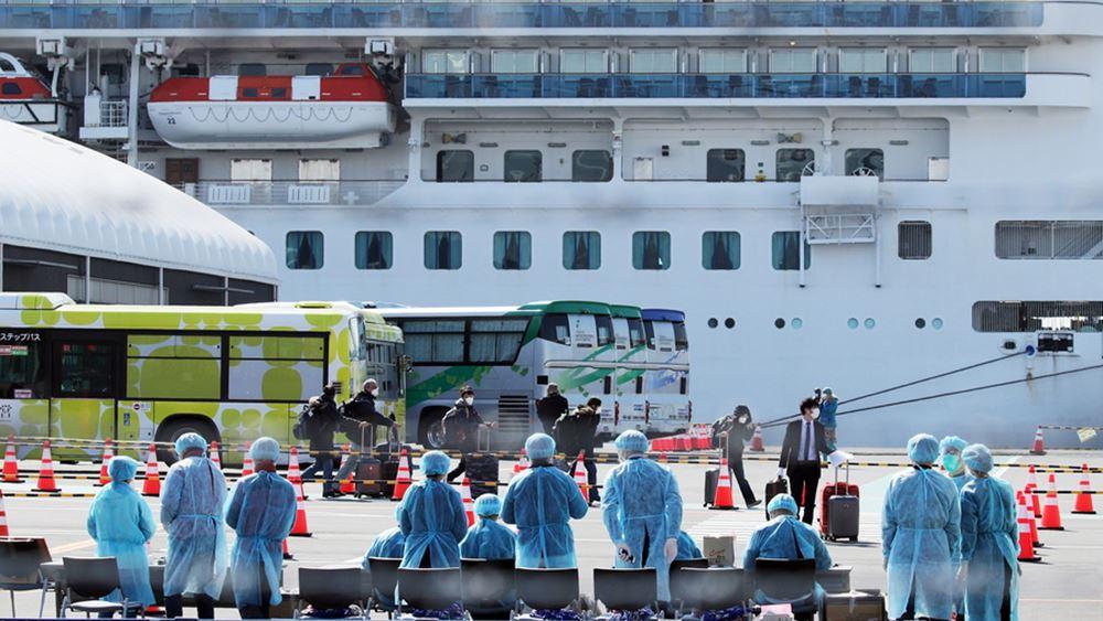 Τρεις Ρώσοι επιβάτες του κρουαζιερόπλοιου Diamond Princess διαγνώσθηκαν με τον κοροναϊό