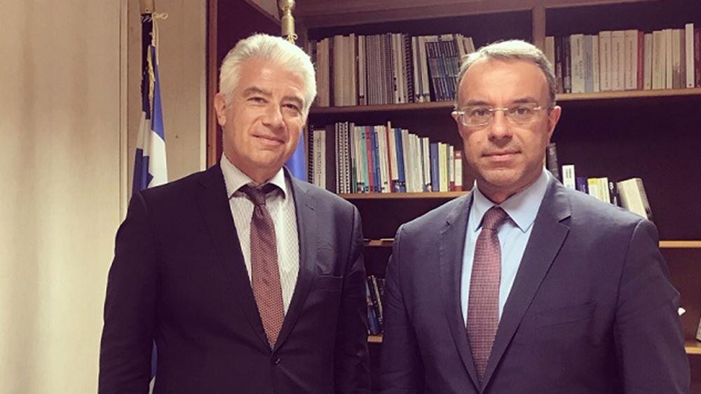 Συνάντηση Χρ. Σταϊκούρα με τον Πρέσβη της Γερμανίας
