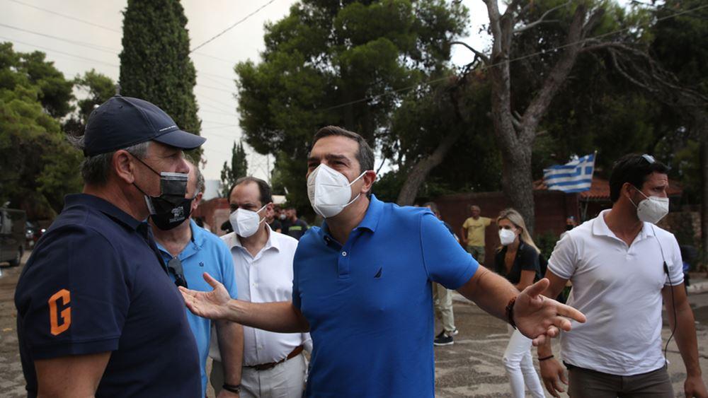 Έκκληση Τσίπρα να εισακουστούν οι καταγγελίες κατοίκων για έλλειψη πτητικών μέσων στο Κρυονέρι