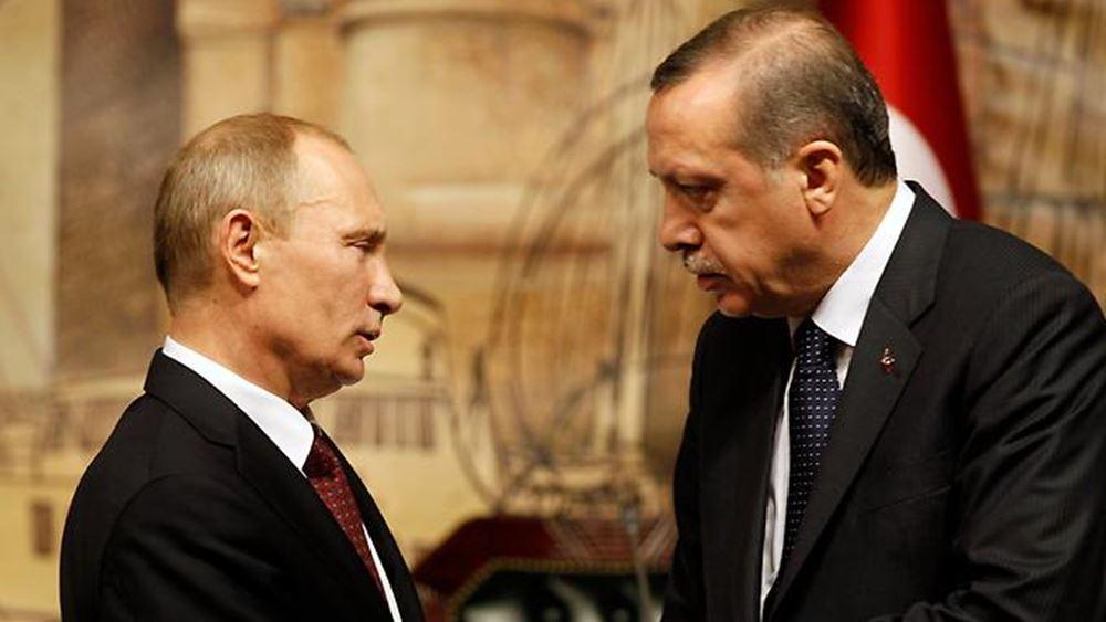 Ερντογάν και Πούτιν εγκαινιάζουν ένα τμήμα του TurkStream