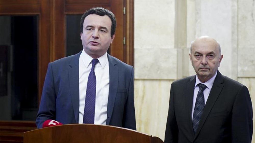 Επιτεύχθηκε συμφωνία για τον σχηματισμό κυβέρνησης συνασπισμού στο Κόσοβο