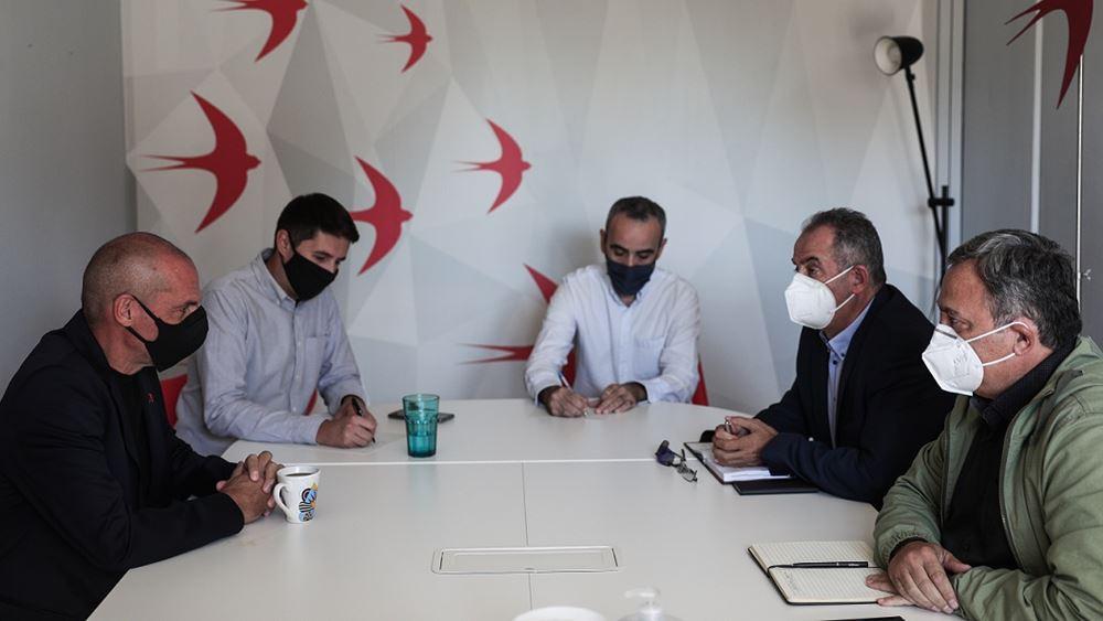 Συνάντηση Γ. Βαρουφάκη με αντιπροσωπεία της ΓΕΝΟΠ-ΔΕΗ