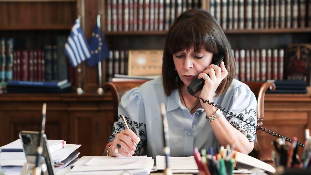 Τηλεφωνική επικοινωνία της ΠτΔ με τον πρόεδρο της Κύπρου για τις τουρκικές εξαγγελίες