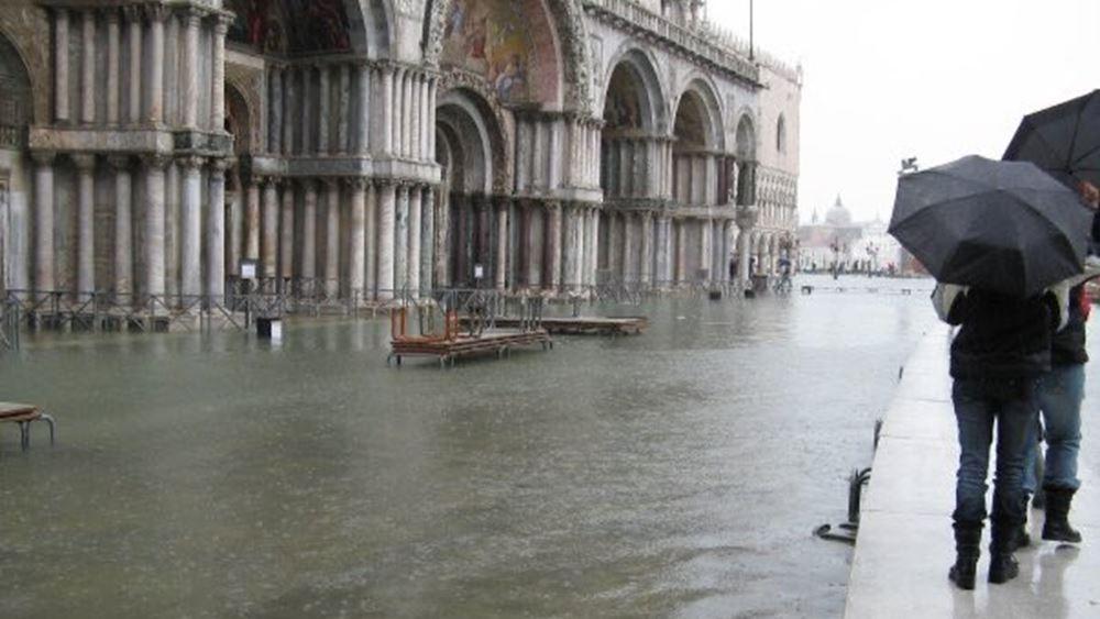 Κάτω από το νερό η Βενετία - Πλημμύρισε η βασιλική του Αγίου Μάρκου