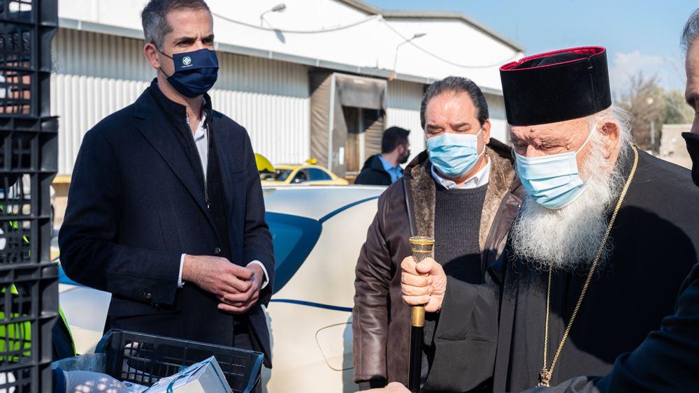 Τρόφιμα, γλυκά και παιχνίδια σε χιλιάδεςοικογένειες από τον Δήμο Αθηναίων σε συνεργασία με την Αρχιεπισκοπή Αθηνών