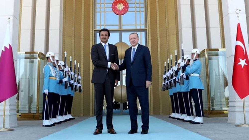 Νέες εμπορικές συμφωνίες αναμένεται να υπογράψει ο εμίρης του Κατάρ και ο Ερντογάν