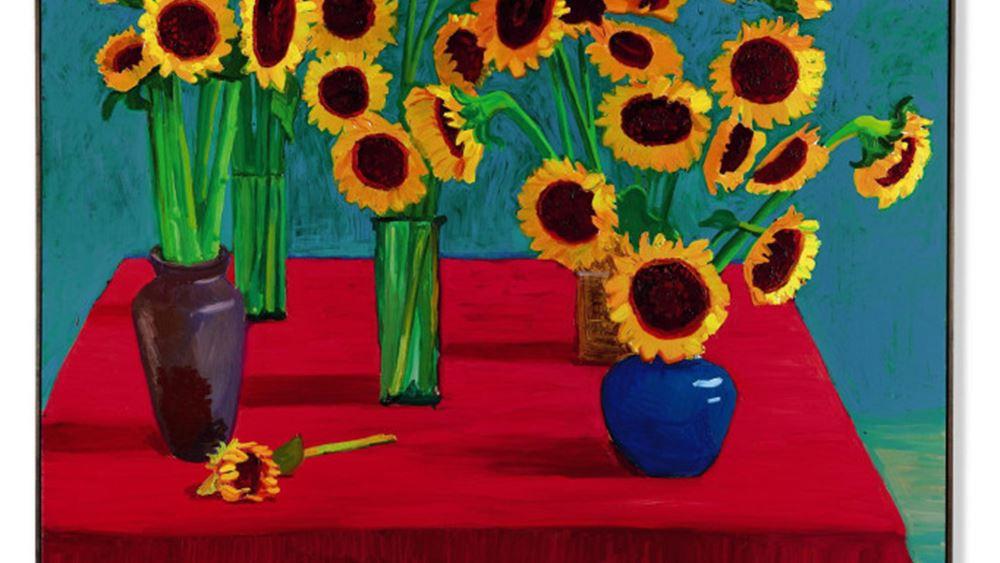 "Sotheby's: Αντί $14,8 εκατ. πωλήθηκε ο πίνακας του Ντέβιντι Χόκνεϊ ""30 Sunflowers"" στην Ασία"