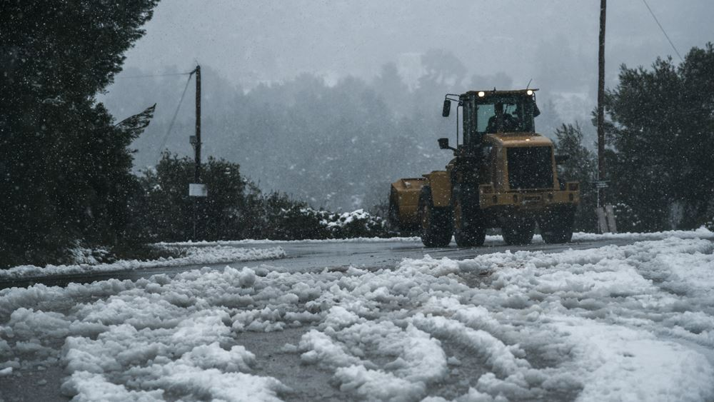 "Meteo: Μειωμένη κατά 40% φέτος η χιονοκάλυψη στην Ελλάδα παρά τη ""Ζηνοβία"" και τον ""Ηφαιστίωνα"""