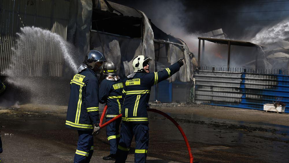 Πυρκαγιά σε εργοστάσιο στον Ασπρόπυργο