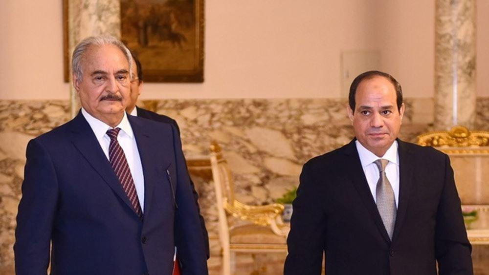 Ο Αιγύπτιος πρόεδρος αλ-Σίσι συναντήθηκε με τον Αγκίλα Σάλεχ και τον Χαλίφα Χφτάρ