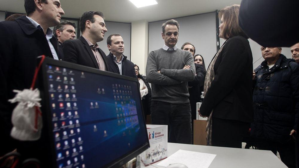 Επίσκεψη Μητσοτάκη σε τμήμα τεχνολογικής εκπαίδευσης στη Καρδίτσα