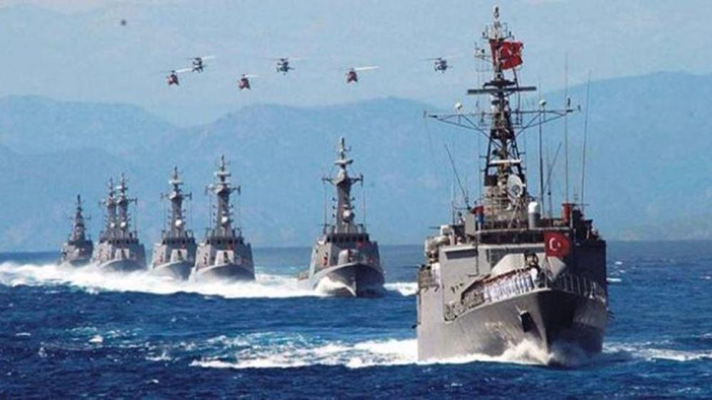 Ναυτική άσκηση στο Καστελόριζο με πυρά αρχίζει η Τουρκία