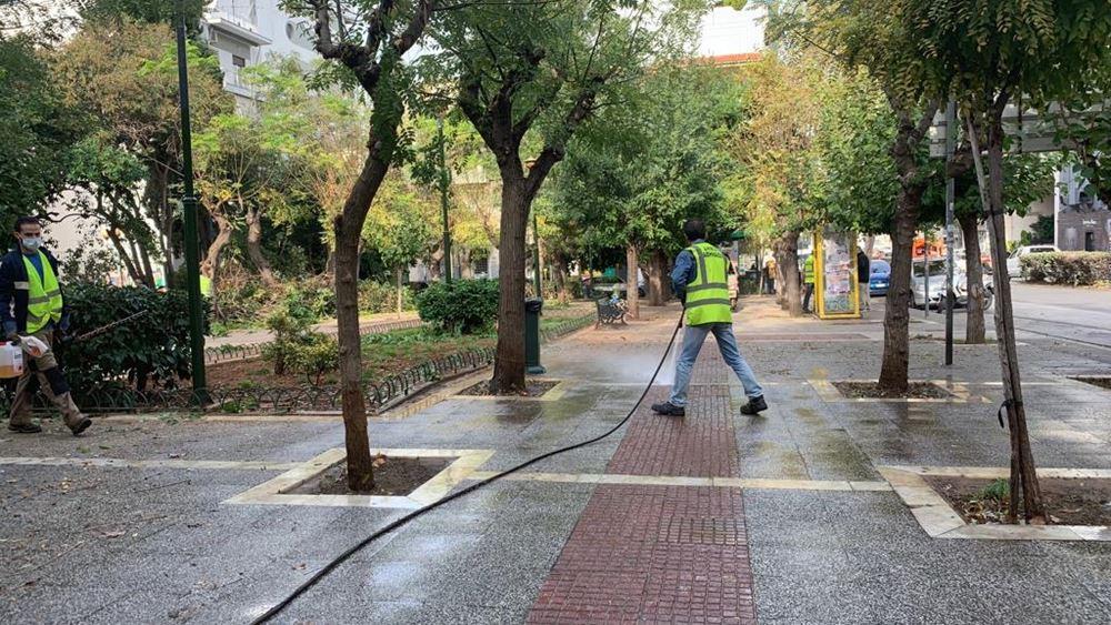 Καθημερινές παρεμβάσεις ανάπλασης από τον Δήμο Αθηναίων