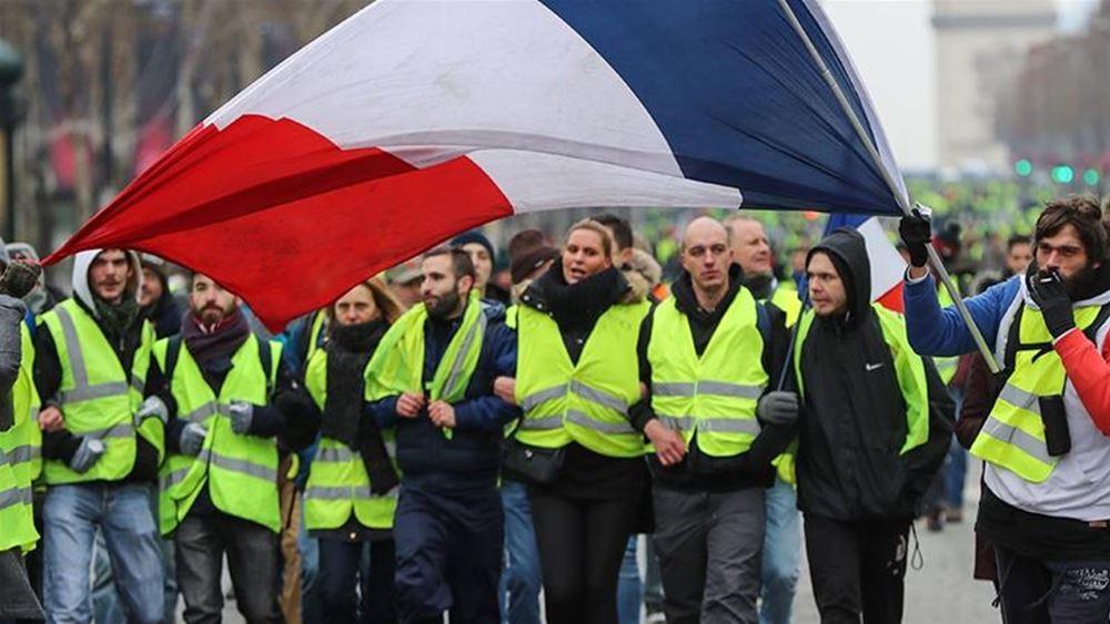 """Γαλλία: Πάνω από 100 συλλήψεις διαδηλωτών των """"κίτρινων γιλέκων"""" στο Παρίσι"""