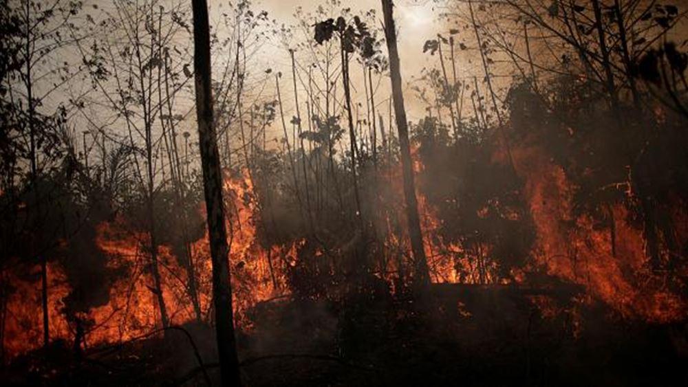 Στις φλόγες παραμένει ο Αμαζόνιος - Η G7 προσφέρει βοήθεια