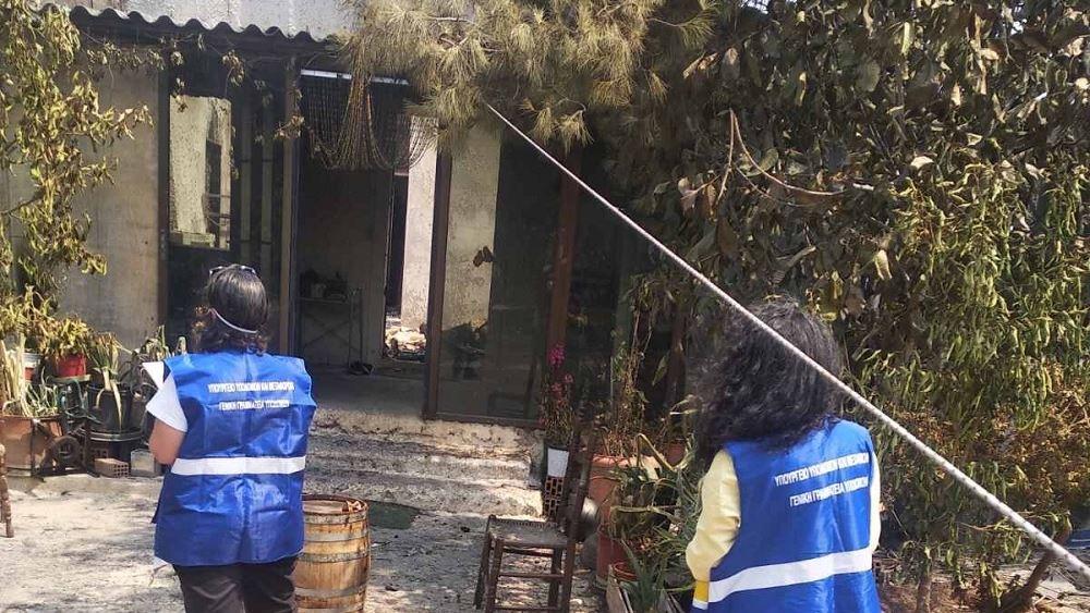 Ξεπέρασαν τους 2.000 οι έλεγχοι κτιρίων στις πυρόπληκτες περιοχές