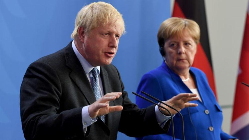 """Προς οριστική ρήξη Βρετανίας και ΕΕ - """"Ταφόπλακα"""" στις διαπραγματεύσεις το τηλεφώνημα Τζόνσον - Μέρκελ"""