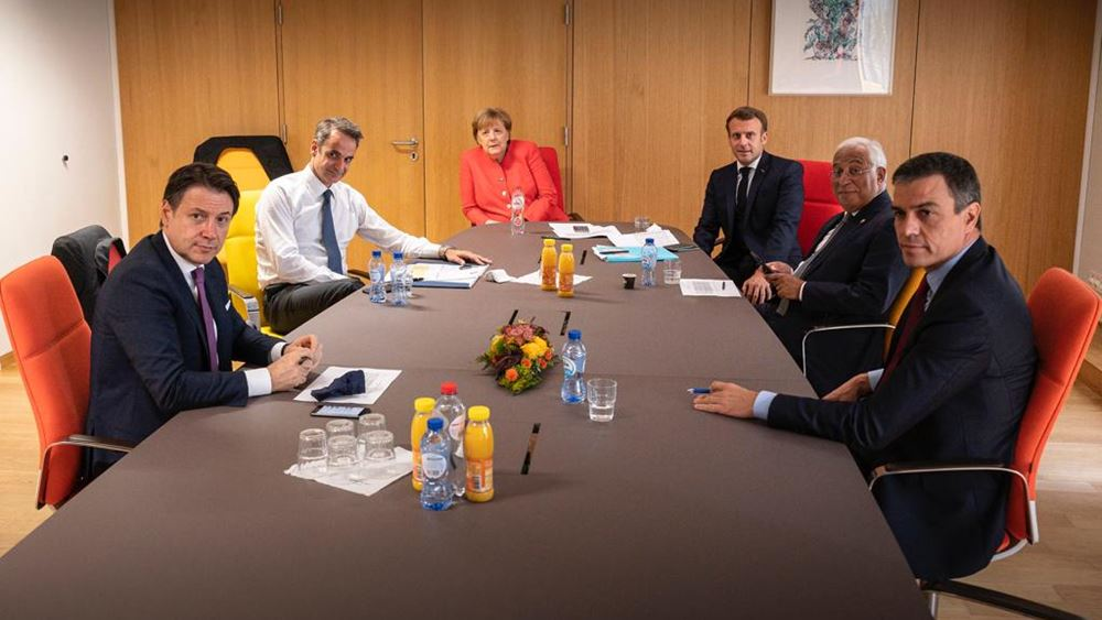 Σύνοδος Κορυφής: Συνάντηση Μητσοτάκης, Μέρκελ, Μακρόν, Σάντσεθ, Κόντε, Κόστα