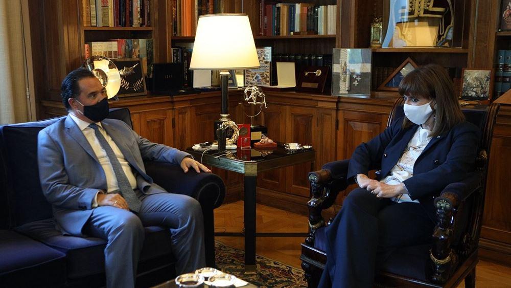 Συνάντηση Άδωνι Γεωργιάδη με την Πρόεδρο της Δημοκρατίας