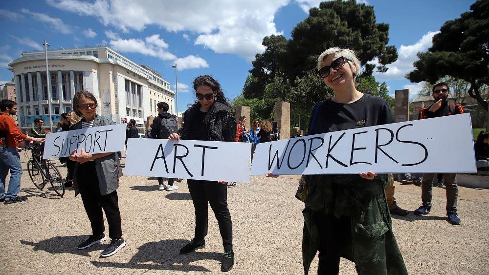 Διαμαρτυρίες καλλιτεχνών σε Σύνταγμα, Θεσσαλονίκη, Πάτρα, Ηράκλειο
