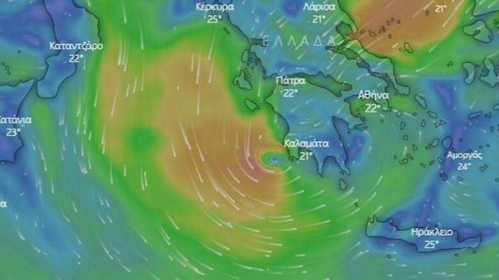 Ιανός: Ένας από τους πιο ισχυρούς μεσογειακούς κυκλώνες από το 1969