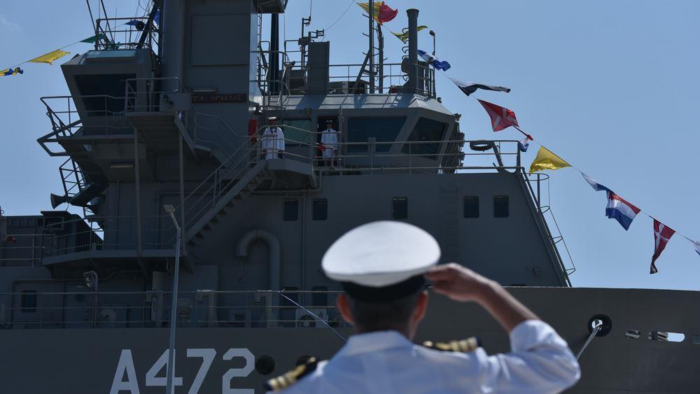 Η Πρόεδρος της Δημοκρατίας στην τελετή ονοματοδοσίας νέου πλοίου του Πολεμικού Ναυτικού